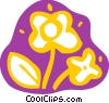 Cut flowers Vector Clipart illustration