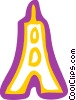 Vector Clipart illustration  of a Eiffel Tower