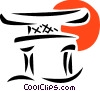 Japanese temple Vector Clip Art picture