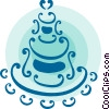 Wedding cake Vector Clipart illustration