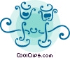Vector Clip Art graphic  of a Wedding glasses
