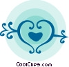 Vector Clip Art picture  of a Heart and arrow
