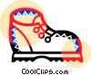 Vector Clip Art image  of a Hiking boot