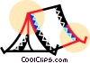 Pop up tent Vector Clip Art picture