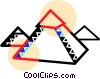 Vector Clip Art image  of a The great pyramids