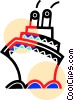 Vector Clipart graphic  of a Cruise ship