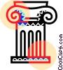 Vector Clipart image  of a Roman pillar