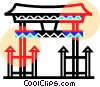 Vector Clip Art graphic  of an Asian Pagoda