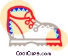 Vector Clip Art graphic  of a Hiking boot