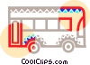 Vector Clip Art image  of a Public bus