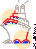 Vector Clip Art graphic  of a Cruise ship