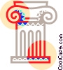 Vector Clipart image  of a Roman pillar