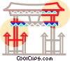 Vector Clipart illustration  of an Asian Pagoda