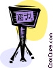 Music stand and music sheet Vector Clipart picture