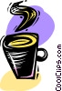 Hot cup of coffee Vector Clipart illustration