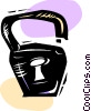 Pad lock Vector Clipart image