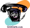 Vector Clip Art graphic  of a Ringing telephone