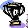 Vector Clipart illustration  of a Trophy