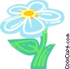 Vector Clipart graphic  of a Colorful daisy