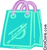 Vector Clipart image  of a Shopping bag