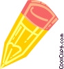 Vector Clipart graphic  of a Yellow pencil