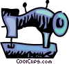 Vector Clipart graphic  of a Sewing machine