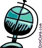 Vector Clipart picture  of a Spinning globe