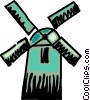 Vector Clipart image  of a Dutch windmill