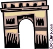 Arc de Triomphe Vector Clip Art graphic