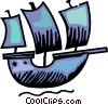 Viking ship Vector Clipart graphic