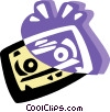 Vector Clip Art graphic  of a Cassette tape