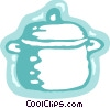 Crock pot Vector Clipart graphic