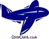 Vector Clip Art image  of a Commercial airplane
