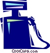 Vector Clip Art image  of a Gas pump