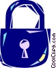 Pad lock Vector Clipart graphic
