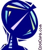 Satellite dish Vector Clipart graphic