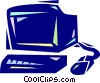 Work station Vector Clipart illustration