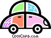 Vector Clip Art image  of a Family car