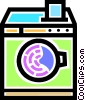 Vector Clipart graphic  of a Washing machine