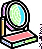 Vector Clip Art graphic  of a Make-up mirror