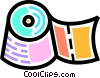 Vector Clipart graphic  of a Toilet paper