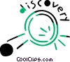 Magnifying glass with Discovery message Vector Clipart illustration