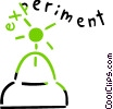 Vector Clip Art image  of a Science Experiment