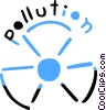Bio Hazard sign with Pollution message Vector Clipart illustration
