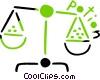 Vector Clipart picture  of a Scale with Potion message