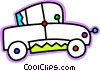 Vector Clipart graphic  of a Family car