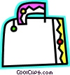 Vector Clip Art picture  of a Colorful suitcase