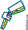 Vector Clip Art graphic  of a Colorful house key