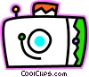 Colorful camera Vector Clipart illustration