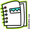 Vector Clipart image  of a Colorful binder